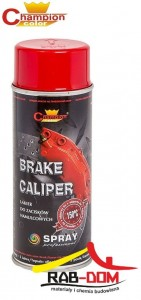 CHAMPION Brake 400ml Spray do zacisków CZERWONY RAL 3002