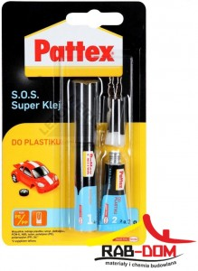 PATTEX S.O.S. Klej do Plastiku 2g + aktywator 4ml