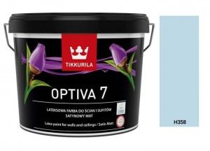 TIKKURILA Optiva Satin Matt 7 9l  KOLOR: H358