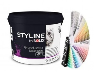 STYLINE BOLIX FARBA GRAND LATEXSTYLE SUPER WHITE 10L KOLORY