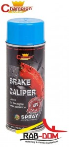CHAMPION Brake 400ml Spray do zacisków BŁĘKITNY RAL 5015