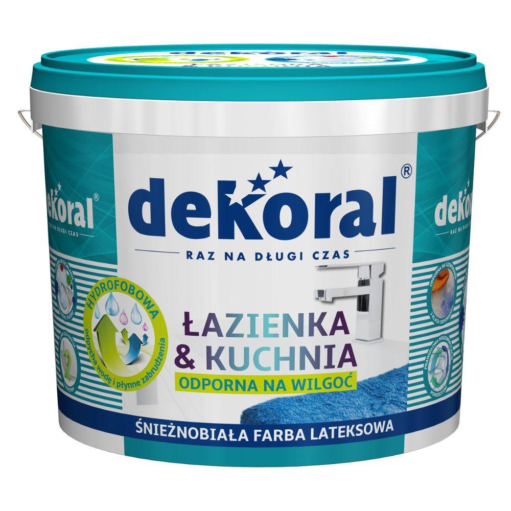 Farba Dekoral Maleinak Kuchnia łazienka 5l Biała